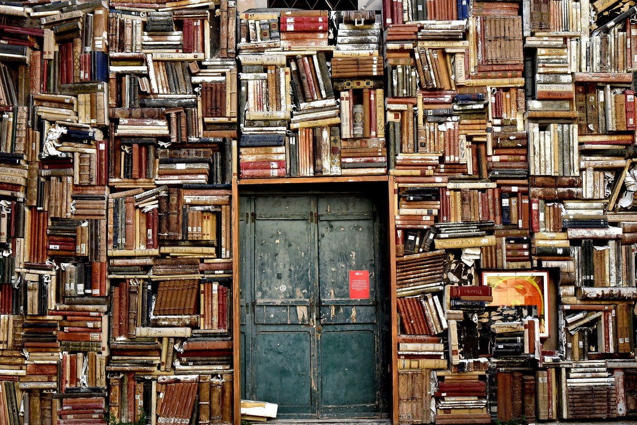 books around door